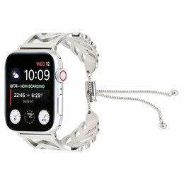 $enCountryForm.capitalKeyWord Australia - For Apple Watch Band 42mm Series 38mm Bracelet Replacement Leaf Embellishment Small Fine Girl Teenage Heart Pretty Comfortable Watch Bands