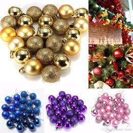 $enCountryForm.capitalKeyWord Australia - 12 Colors 24Pcs set Christmas Balls Mayitr Xmas Tree Decoration Glitter Ball Ornament
