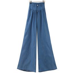b3a7bd322309 Plus Size Jeans Wide Leg Pants Women Loose Casual Palazzo Trousers Women  High Waist Blue Demin Long Pants Femme Pantalon Mujer
