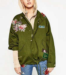 chinese embroidered jackets 2019 - New 2016 Women Fashion Vintage Retro Chinese Style Peony flower animal plant embroidered Loose Jacket Brand Outwear Coat