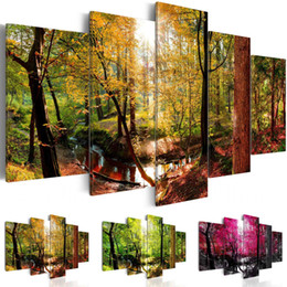 $enCountryForm.capitalKeyWord NZ - (No Frame)Forest Sunset Scenery Canvas Print Modern Art Painting Fashion Design for Home Decoration, Choose Color & Size,Multicolor