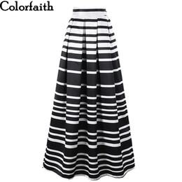f120a7da16 Satin Women 100cm High Waist Maxi Skirts Striped Printed Pleated Floor-Length  Long Skirts Saias Jupe Longue