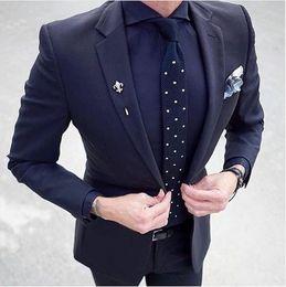 Light bLazers online shopping - Cheap And Fine One Button Groomsmen Notch Lapel Groom Tuxedos Men Suits Wedding Prom Dinner Best Man Blazer Jacket Pants Tie A598
