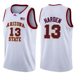 Vente en gros 2020 TOP GREEN 23 LeBron James 13 Université NCAA Basketball Jersey Harden Arizona State Bethel Irish lycée Maillots zsdrfgv