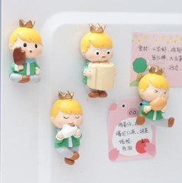 Wholesale prince stickers resale online - Original cartoon three dimensional refrigerator stickers switch stickers Zakka small prince resin decorations TV wall decoration ornaments c