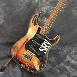 vintage electric guitars NZ - Custom Vintage SRV Guitar 10S Custom Shop Masterbuilt Limited Edition Stevie Ray Vaughan Tribute SRV ST Electric Guitar Vintage Brown