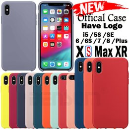 Logo For Iphone NZ - Original Have LOGO Silicone Case For iPhone 6 6s 7 8 Plus Cover for iPhone XS MAX XR X Cases For Samsung S10 PLUS S10E Case Cover