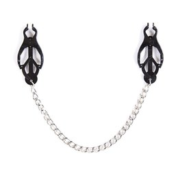 $enCountryForm.capitalKeyWord Australia - Stainless Steel Butterfly Clip Adult Sex Toys Breast Nipple Clamps with Chain Clips BDSM Bondage Couples Erotic Accessories C18122501