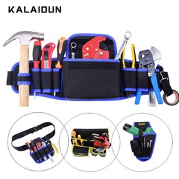 Discount electrician pouches - KALAIDUN Tool bags Waterproof Storage Hand Tool Bag Portable Belt Pouch Bag Oxford Large Capacity Electrician Utility Ki