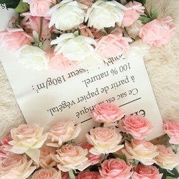 Real Touch Flowers Fake Australia - Decorations Artificial Dried Flowers 1 pcs Silk Rose Wedding Decoration Artificial Floral Fake Flowers Real Touch Flower Bride Bouquet Ho...