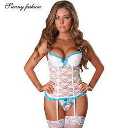 Sexy tranSparent coStume online shopping - Women Babydoll Sexy Lingerie Set  Plus Size Bandage Transparent Women 6e665b634