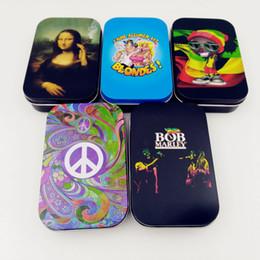 Toptan satış Bob Marley Sigara Tütün Pollen Baskılı Shaker Polen Eliter Kutusu Yeni Mikro Mesh Stash Can Sigara Için Güvenli Çalkalayıcı Herb Saklama Kutusu