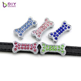 $enCountryForm.capitalKeyWord Canada - 10PCS! 8MM Rhinestone Slide Charms Fit for 8mm Wristband bracelet  Belt  Pet collar (4 styles can choose) LSSC126-135*10