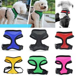 MediuM dog Mesh vest harness online shopping - Nylon Pet Mesh Harness Soft Net Dog Mini Vest Adjustable Breathable Puppy Harness Dog Supplies Color WX9