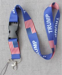 Chinese  TRUMP Chest Card Strap U.S.A Removable Flag of the United States Key Chains String Badge Pendant Party Gift Mobile Phone lanyard Hot B71604 manufacturers