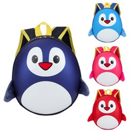 $enCountryForm.capitalKeyWord Australia - Fashion Baby Boys School Bag High Quality Girls Kids Penguin Pattern Animals Backpack Toddler School Bag Best Gift For Kids