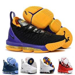 best sneakers ba2ed 5e1b7 2019 MEN Neue Farben Lebron 16 XVI König Ich verspreche Outdoor-Schuhe James  16 Outdoor-Schuhe 16 Basketball-Schuhe Größe US7-12