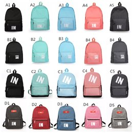 $enCountryForm.capitalKeyWord NZ - Stock Pink Black Backpack 25 Design Casual Backpacks Teenager Student Schoolbag Travel Bags Knapsack 16x11x14 Inch Fast Shipping