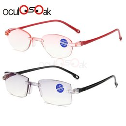1f711bca4be7 Rimless Diamond Trimming Reading Glasses+1.0 +1.50 +2.0 +2.50 +3.0 +4.0 For  Men Women Elderly Anti Blue Light Reading Glass