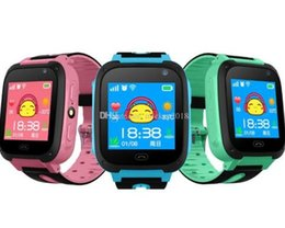 Green Watchs NZ - Smart Watch For Kids Q9 Children Anti-lost Smart Watches Smartwatch LBS Tracker Watchs SOS Call For Android IOS DHL Free