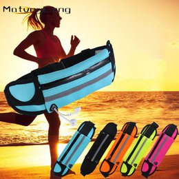 Discount anti theft waist bag Running bag sports waist bag outdoor mobile phone anti-theft personal stealth multifunctional men and women marathon bel