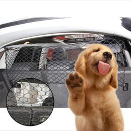 Car Pet Barrier Vehicle Dog Fence Cage Gate Safety Mesh Net Auto Travel Van SUV on Sale