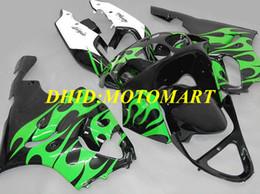 $enCountryForm.capitalKeyWord Australia - Motorcycle Fairing kit for KAWASAKI Ninja ZX7R 97 99 00 03 ZX 7R 1997 2003 ABS Green flames black Fairings set KA08