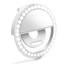Wholesale Selfie Ring Light Enlody Dimmable Clip Ring Lighting Rechargeable LED Bulbs Light for iPhone Android Tablet iPad Laptop Camera W