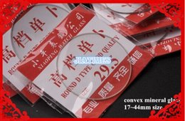 Crystals Australia - Wholesale 100pcs 16-45mm Convex Mineral Watch Glass Watch Crystal for Repair