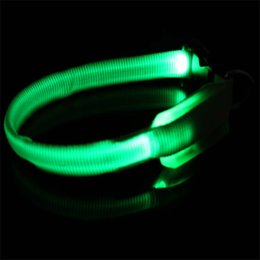 personalized lit dog collar NZ - 18-28cm Creative Safety Pets Dog Small-Scale LED Nylon Collar Light-up Flashing Glow