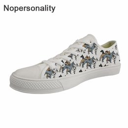 Flower Canvas Shoes Australia - Nopersonality Canvas Shoes Women Geat Dane Flower Dog Print Fashion Outside Sneakers for Teen Girls Students Flats Canvas Shoes