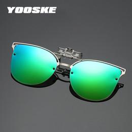 d3d979b1e2f77 YOOSKE Polarized Cat Eye Sunglasses Women Luxury Driving Clip on Myopia  Eyeglasses Female Flip up Eyewear Night Vision Lens