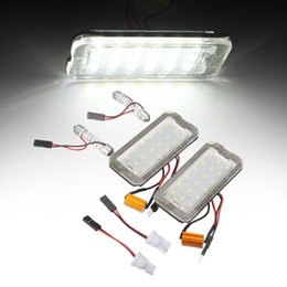 led car number plate NZ - No Error 2 PCS car license plate light for Fiat 500 500C auto replacement LED number plate lamp accessory parts white