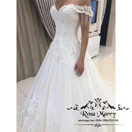 $enCountryForm.capitalKeyWord Australia - Modest Plus Size Country Beach Wedding Dresses 2019 A Line Off Shoulder Beading Vintage Lace Plus Size Bridal Gowns Vestido De Novia