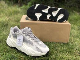wide running shoes for women Australia - 2019 Authentic 700 V2 Static Kanye West Outdoor Shoes For Men Women Runner Wave Mauve Triple White Ef2829 Outdoor Sneakers Size 5-12