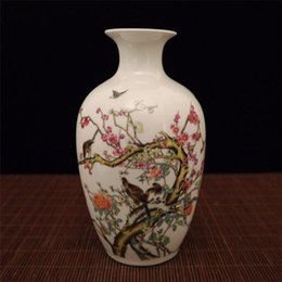 $enCountryForm.capitalKeyWord Australia - Chinese exquisite porcelain pastel painting flower and bird pattern vase