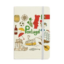 magnetic flag UK - Portugal Landscap Animals National Flag Notebook Fabric Hard Cover Classic Journal Diary A5