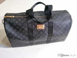 Vente en gros Mode homme femmes sac de Voyage designer sac de voyage sacs à main bagages grande capacité sport sac de luxe de 55X26X34CM