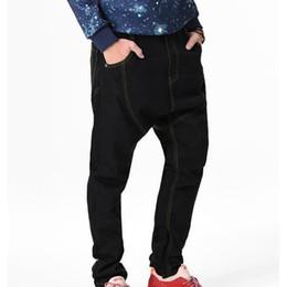 696954e72c74d6 Baggy hip hop loose fit jeans online shopping - Shierxi New Black Baggy  Jeans Men Hip