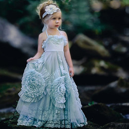 Toddler Special Occasion Australia - 2019 halter Dollcake Flower Girl Dresses Special Occasion For Weddings RuffledFloor Length Lace Party Communion Dress for toddler