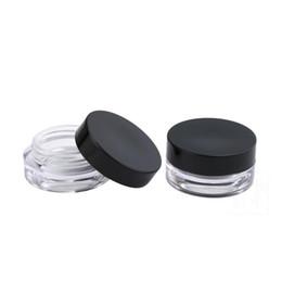 $enCountryForm.capitalKeyWord UK - 2ML 2G Plastic Empty Face Cream Jar Cosmetic Sample Clear Base Plastic Make-up Eyeshadow Lip Balm Nail Art Piece Container Bottle LX6863