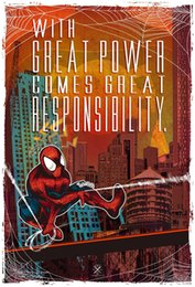 Spiderman Marvel Figure Australia - Spiderman Marvel Digital wall decor Art Silk Print Poster 9