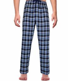 Wholesale men cotton lounge for sale - Group buy Men s Classic Plaid Pajama Pants Super Soft Big and Tall Sleepwear Lounge Sleep Pants PJ Bottoms