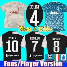 $enCountryForm.capitalKeyWord UK - Fans Player version Juventus soccer jersey football shirt 2019 2020 RONALDO DE LIGT 19 20 uniforms RAMSEY DYBALA JUVE maglia men + kids kit