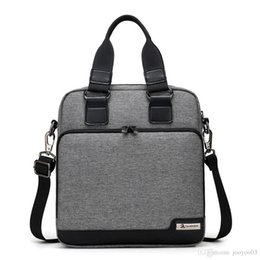 Vertical Pack Australia - Men's Wear Resistant Handbag Vertical Business Briefcase Multilayer Storage Space Design Crossbody Packs Light Weight Oxford Shoulder Bags