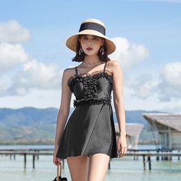 $enCountryForm.capitalKeyWord Australia - Swimsuit One Piece Bikinis Female 2019 Bikini Lady's Swim Wear 1 Women Korean New Swimwear Closed Skirt Split Outer Sheet Solid