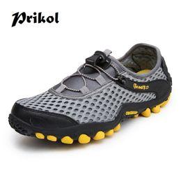 $enCountryForm.capitalKeyWord NZ - Prikol Summer Men Hiking Shoes Low Cut Holes Design Climbing Waterproof Outdoor Trekking Sneaker Mesh Sport Mountain Shoe #45019