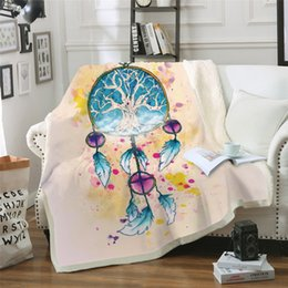$enCountryForm.capitalKeyWord NZ - Wind Chimes Printed Square Sherpa Blanket Camping Picnic Sofa Back To School Thick Wool Blanket Home Bedroom Decoration Tapestry