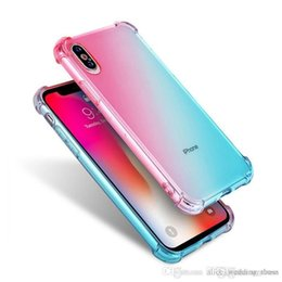 $enCountryForm.capitalKeyWord Australia - Diagonal Gradient Colors Anti Shock Airbag Soft Clear Cases For iPhone XR XS MAX 8 7 Plus 6 6S High Quality Newest Arrival Cradle Design