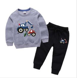 coat shirt pants Australia - T01 baby boys girls tracksuits kids brand tracksuits kids coats pants 2 pcsts kids clothing hot sell new fashion spring au shirt + pants